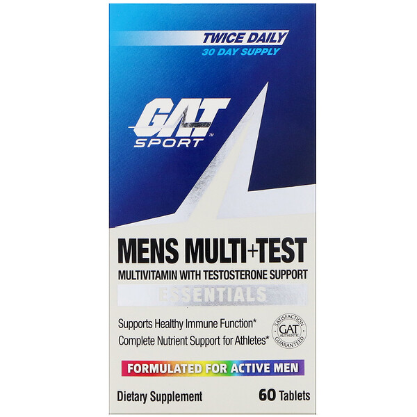 Mens Multi + Test, 60 Tablets