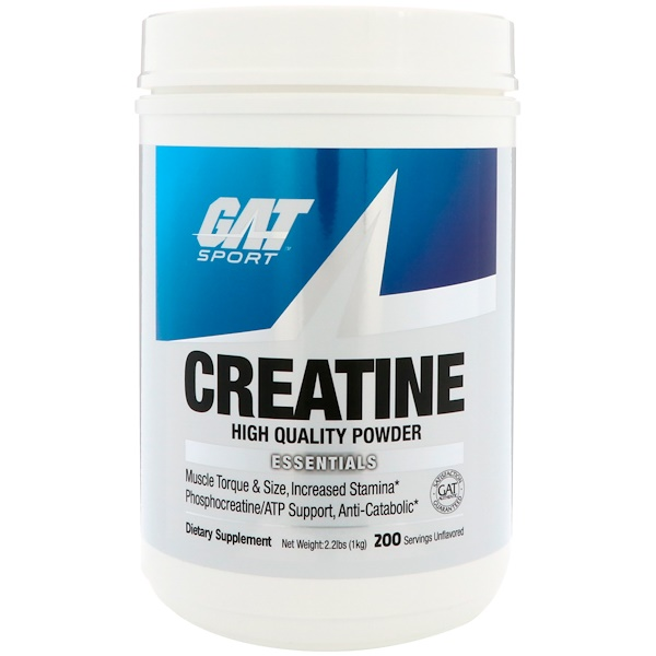 GAT, Creatine, High Quality Powder, 2.2 lbs (1 kg)