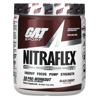GAT, Sport, NITRAFLEX, Black Cherry, 10.5 oz (297 g)