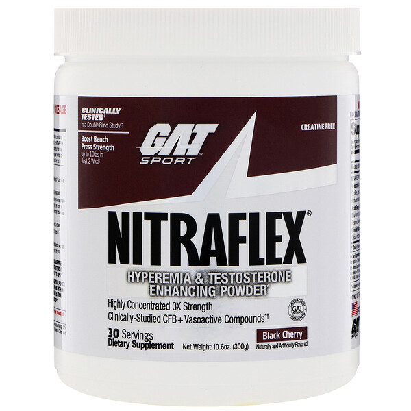 :GAT, Nitraflex, Black Cherry, 10、6 oz (300 g)