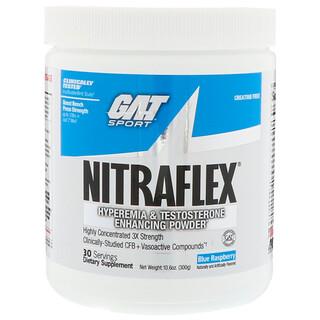 GAT, Nitraflex, синяя малина, 10,6 унц. (300 г)