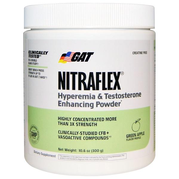 GAT, Nitraflex, Green Apple, 10.6 oz (300 g)