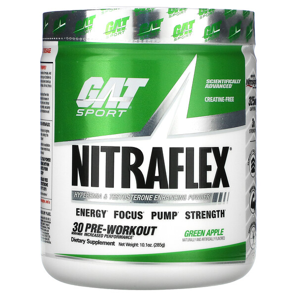 Sport, NITRAFLEX, Green Apple, 10.1 oz (285 g)