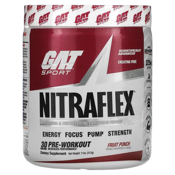 GAT, Sport, NITRAFLEX, Fruit Punch, 11 oz (312 g)