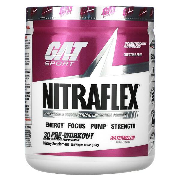 GAT, Sport, NITRAFLEX, Watermelon, 10.4 oz (294 g)