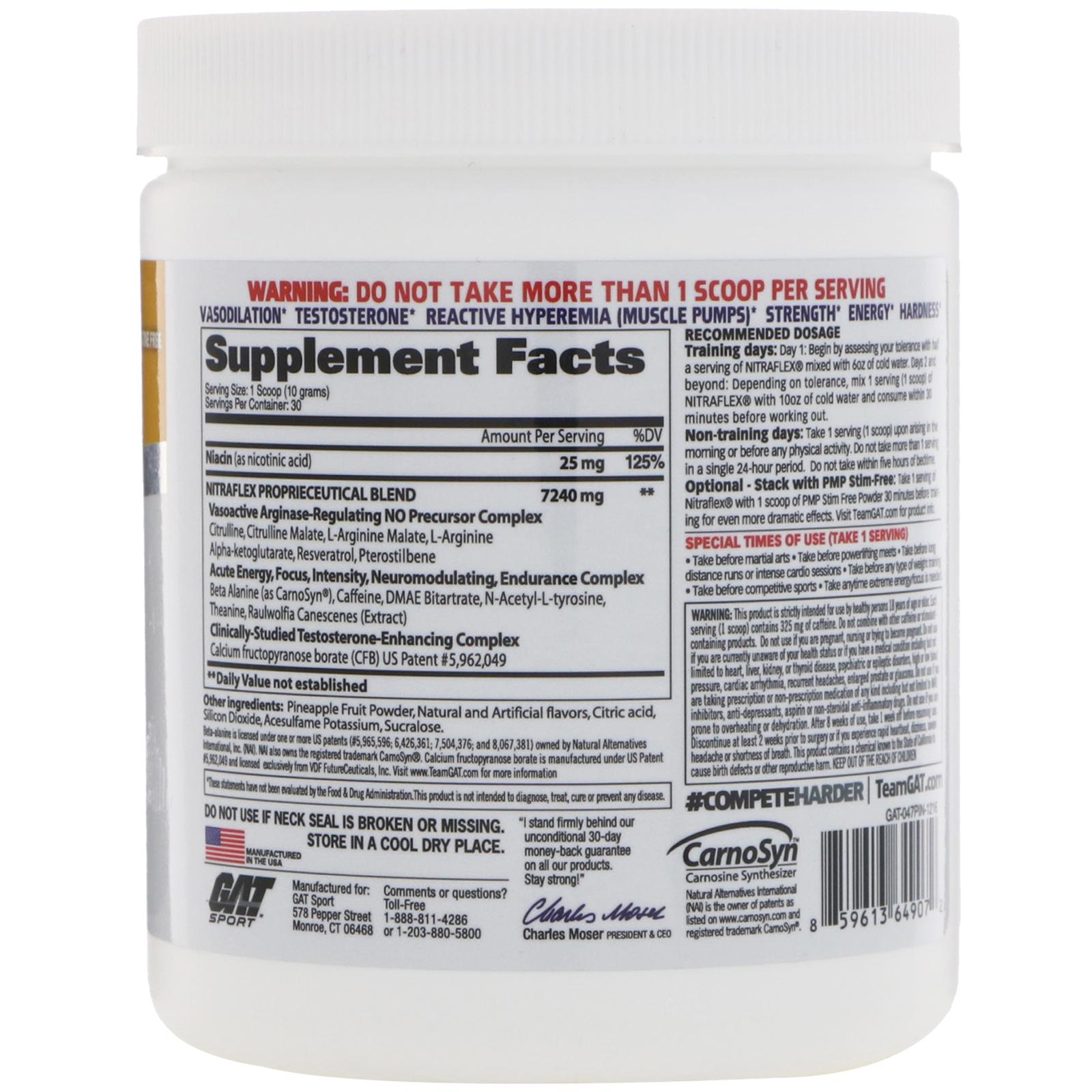 GAT, Nitraflex, Pineapple, 10.6 oz (300