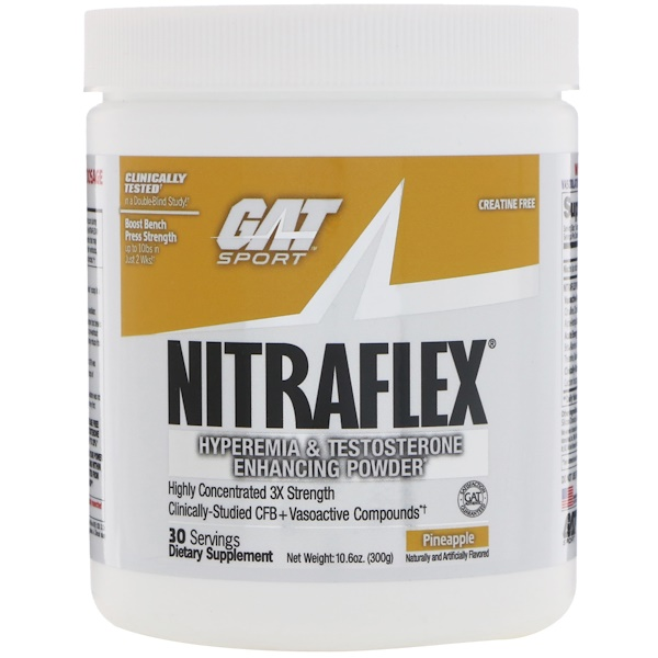 GAT, NITRAFLEX, Pineapple, 10.6 oz (300 g)