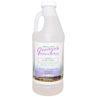 George's Aloe Vera, 100% Líquido de Aloe Vera, 32 fl oz (0,94 l)