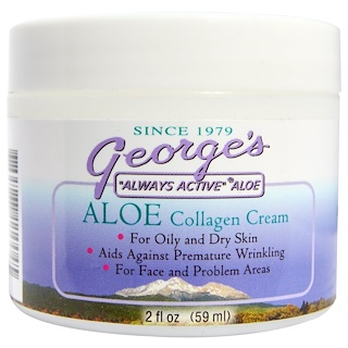 George's Aloe Vera, Aloe Collagen Cream, 2 fl oz (59 ml)