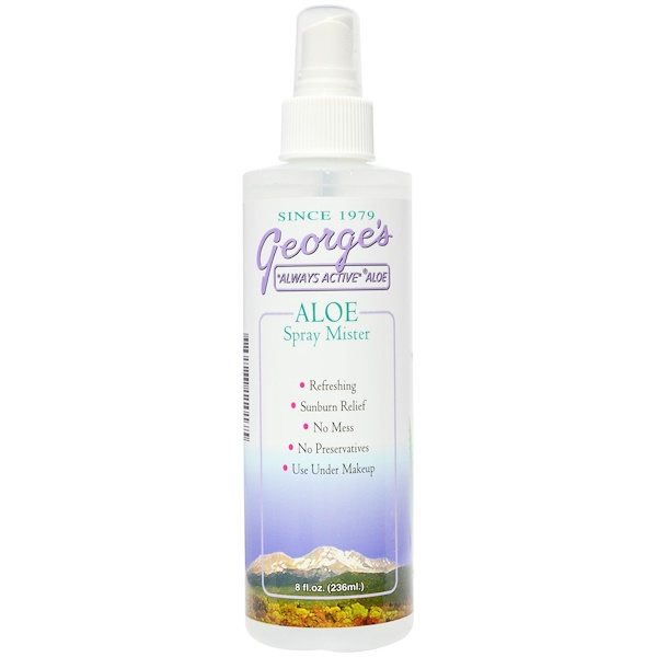George's Aloe Vera, Aloe Spray Mister, 8 fl oz (236 ml) (Discontinued Item)