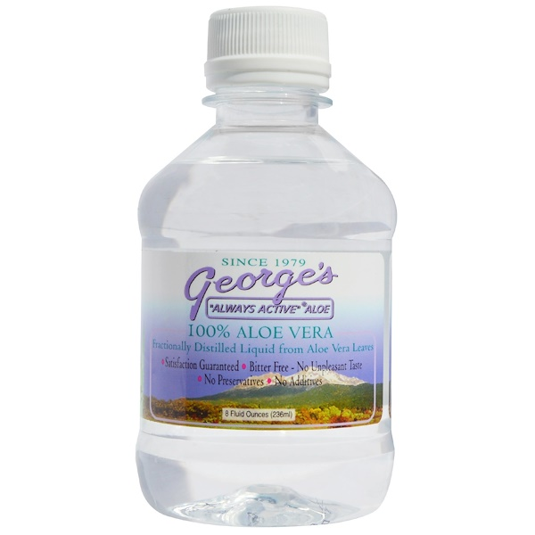 George's Aloe Vera, 100% Aloe Vera Liquid, 8 fl oz (236 ml)