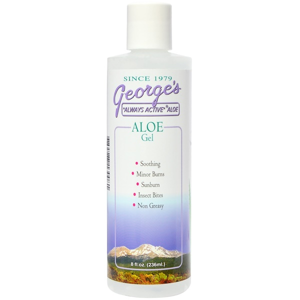 George's Aloe Vera, Aloe Gel, 8 fl oz (236 ml) (Discontinued Item)