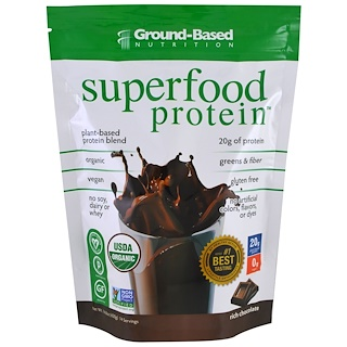 Ground Based Nutrition, Organic Superfood Protein, Rich Chocolate, 14.8 oz (420 g)
