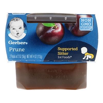 Gerber 1st Foods(第 1 食物),李子泥,2 包,每包 2 盎司(56 克)