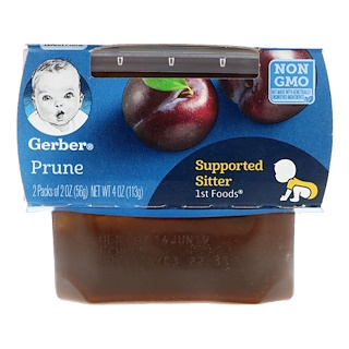 Gerber, 1st Foods, Prune, 2 Pack, 2 oz (56 g) Each