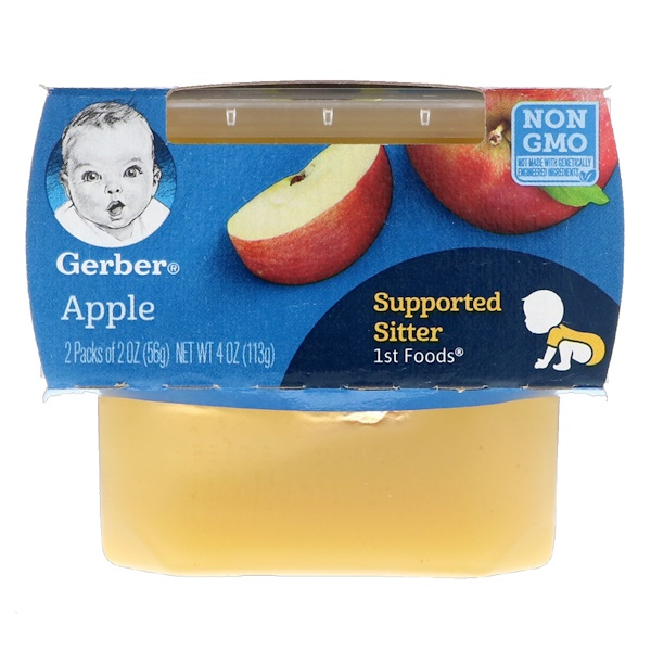 Gerber, 1st Foods, Apple, 2 Pack, 2 oz (56 g) Each
