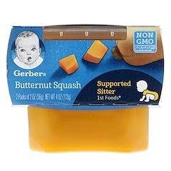 Gerber, 1st Foods, Butternut Squash, 2 Pack, 2 oz (56 g) Each