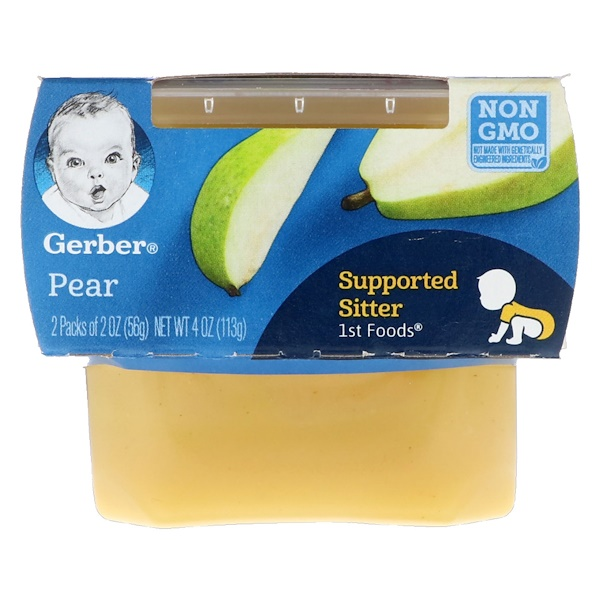 Gerber, 1st Foods, Pear, 2 Pack, 2 oz (56 g) Each
