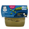 Gerber, エンドウ豆、2個、各56g(2オンス)