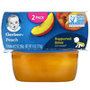 Gerber, Peach, 2 Pack, 2 oz (56 g) Each