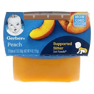 Gerber, 1st Foods, Peach, 2 Pack, 2 oz (56 g) Each