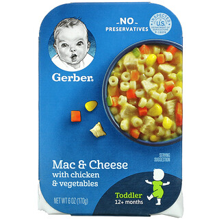 Gerber, Mac & Cheese with Chicken & Vegetables, 12+ Months, 6 oz (170 g)