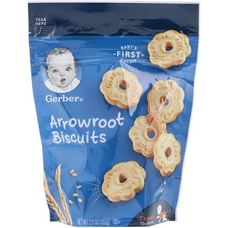 Gerber, Arrowroot Biscuits, Crawler, 10+ Months, 5.5 oz (155 g)