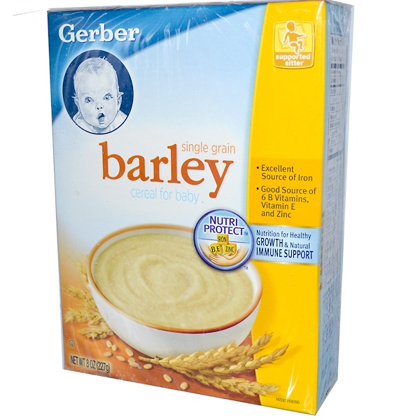 Gerber, Cereal For Baby, Single Grain Barley, 8 oz (227 g) (Discontinued Item)