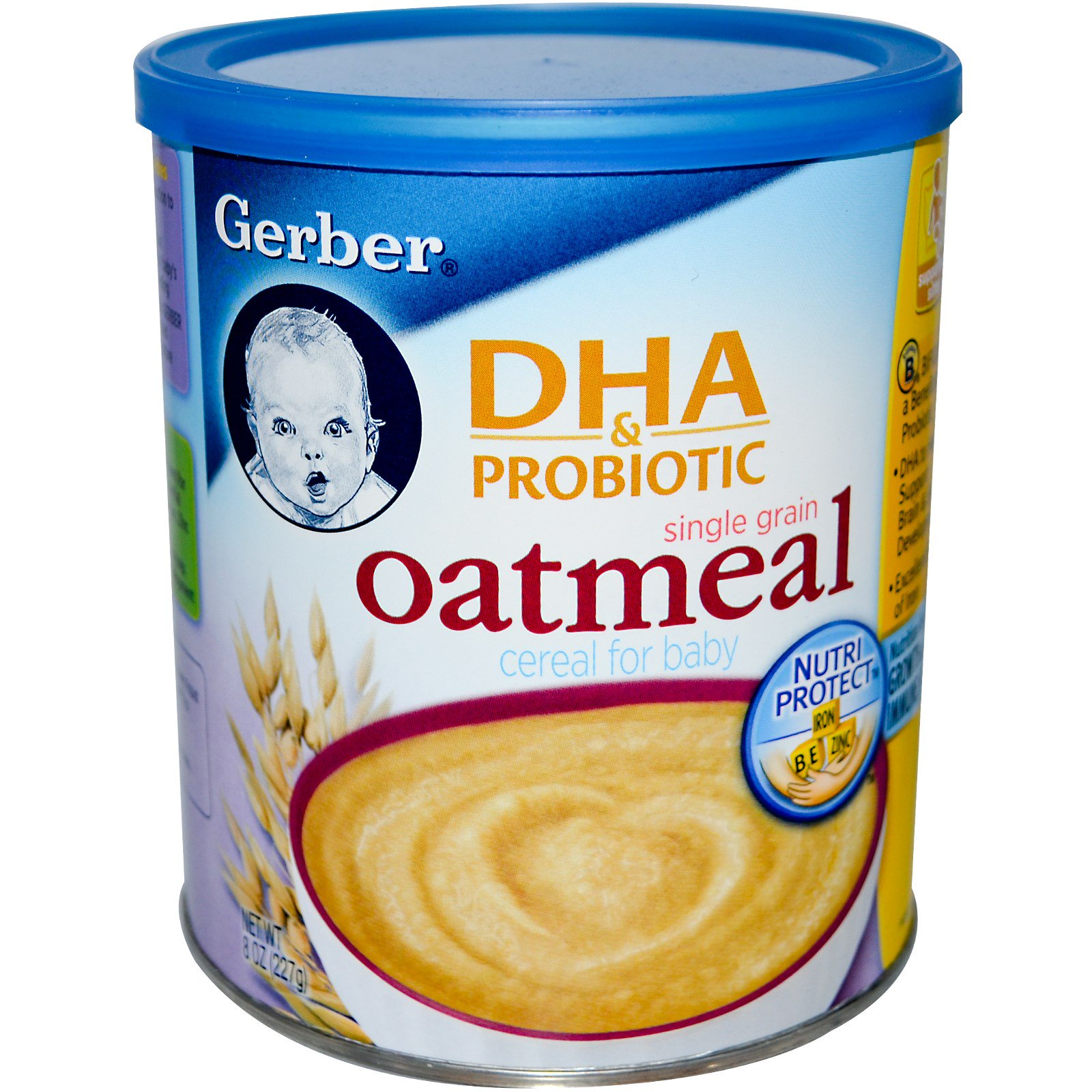 Gerber, DHA & Probiotic, Single Grain Oatmeal Cereal For