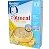 Gerber, Cereal for Baby and Toddler, Oatmeal & Banana, 8 oz (227 g) (Discontinued Item)