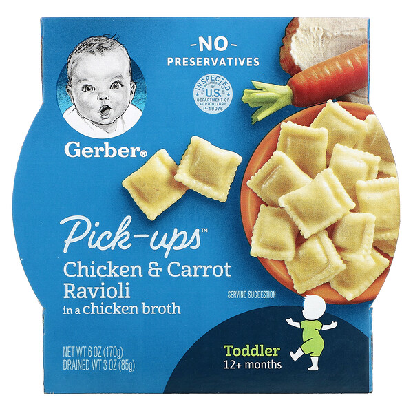 Pick-Ups, Chicken & Carrot Ravioli in a Chicken Broth, Toddler, 12+ Months, 6 oz (170 g)