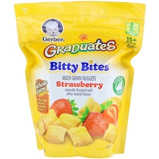 Gerber, Graduates, Bitty Bites, Toddler, 15+ Months, Strawberry, 2.50 oz (71 g)