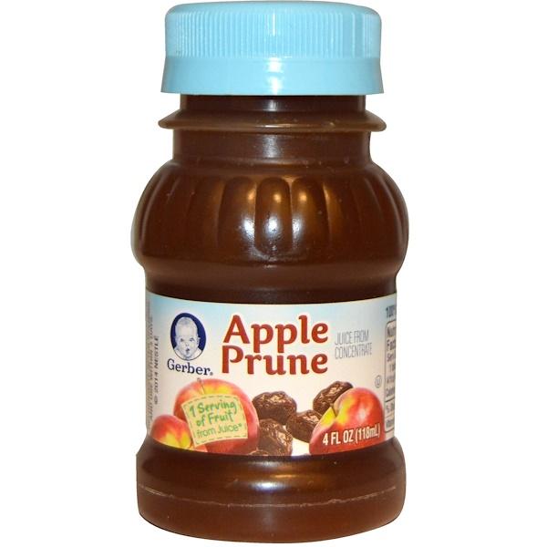 Gerber, 100%ジュース, アップルプルーン, 4液量オンス(118 ml) (Discontinued Item)