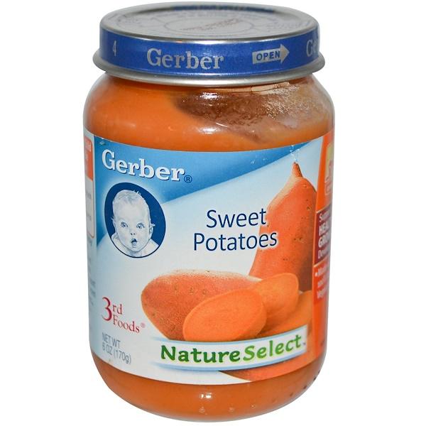 Gerber, 3rd Foods, NatureSelect, Сладкий Картофель, для Малышей 6 унции (170 г) (Discontinued Item)