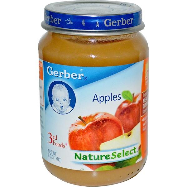 Gerber, 3rd Foods, NatureSelect, Apples, 6 oz (170 g) (Discontinued Item)