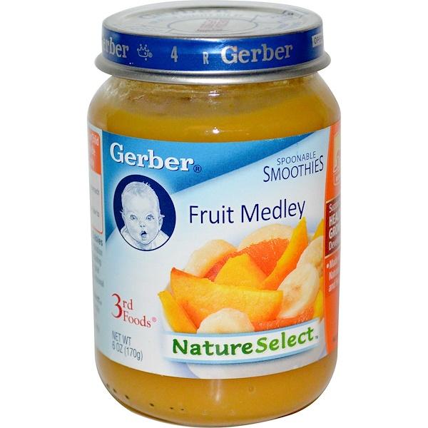 Gerber, 3rd Foods, NatureSelect, Fruit Medley, 6 oz (170 g) (Discontinued Item)
