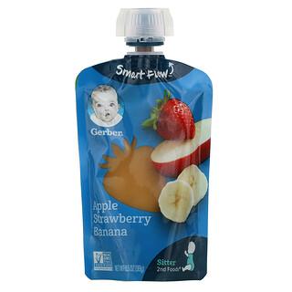 Gerber, Smart Flow, Apple, Strawberry, Banana, 3.5 oz (99 g)