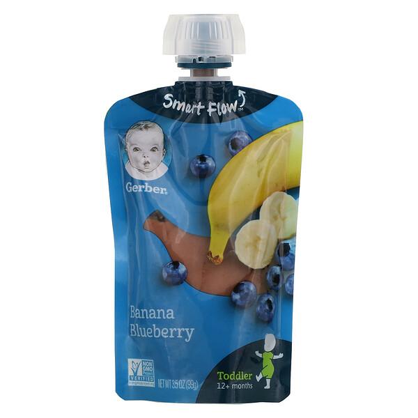 Smart Flow, 12+ Months, Banana, Blueberry, 3.5 oz (99 g)