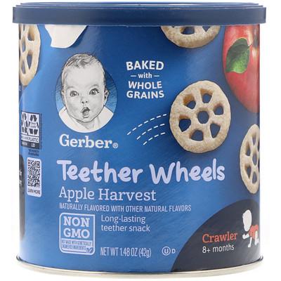 Teether Wheels, для малышей от 8 месяцев, с яблоком, 42 г (1,48 унции)