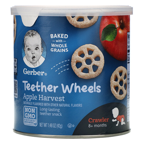 Gerber, Teether Wheels, ab 8 Monate, Apfel, 42 g (1,48 oz.)
