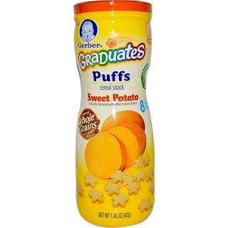 Gerber, Graduates, Puffs Cereal Snack, Sweet Potato, Crawler, 1.48 oz (42 g)