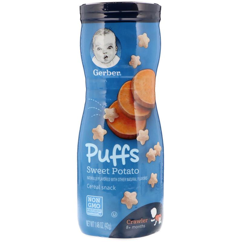 Gerber, Bocadillo de cereales Puffs, 8+ meses, batata, 1,48 oz (42 g)