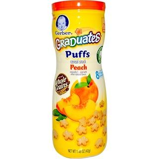 Gerber, Graduates Puffs, Peach, 1.48 oz (42 g)