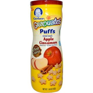 Gerber, Graduates Puffs, Apple Cinnamon, 1.48 oz (42 g)