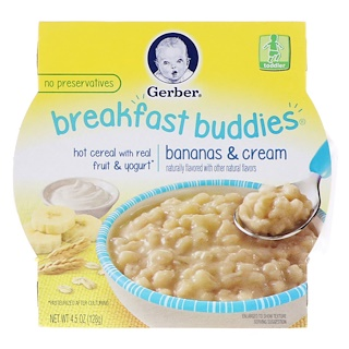 Gerber, Breakfast Buddies, Bananas & Cream, Toddler, 4.5 oz (128 g)