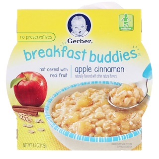 Gerber, Breakfast Buddies, Apple Cinnamon, Toddler, 4.5 oz (128 g)