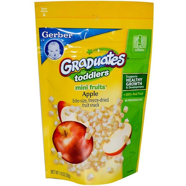 Gerber, Graduates for Toddlers, Mini Fruits, Apple, 1 oz (28 g) (Discontinued Item)