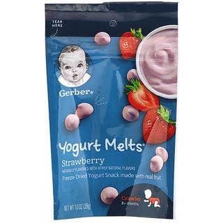 Gerber, Yogurt Melts, Strawberry, Crawler, 8+ Months, 1.0 oz (28 g)