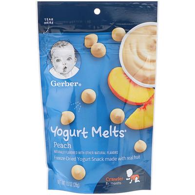 Yogurt Melts, для малышей от 8месяцев, с персиком, 28г (1унция) similac комфорт 1 смесь с 0 месяцев 375 г