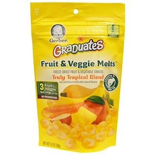 Gerber, Graduates, Fruit & Veggie Melts, Truly Tropical Blend, 1.0 oz (28 g)